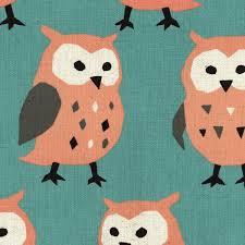 owl fabric pink owls kokka fabric owl print owls on canvas