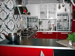 kitchen black and white kitchen rooster kitchen decor red and