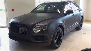 bentley mulsanne matte black bentley bentayga stealth edition is the first one with a matte