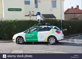 Map Street View A Google Street View Map Car Completes Its Task In Stock Photo