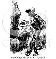 clipart of a retro vintage black and white jack the giant killer 4 black and white posters u0026 black and white art prints 906