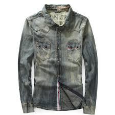 s fitted blouses autumn mens patchwork designer slim 100 cotton shirt