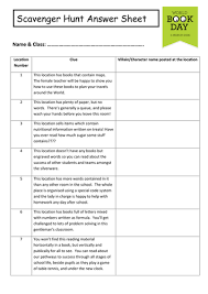 world book day 2016 scavenger hunt by orladonnelly teaching