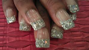 how to silver glitter star nails part 1 youtube