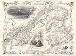 map of east canada file 1850 tallis map of east canada or and new brunswick
