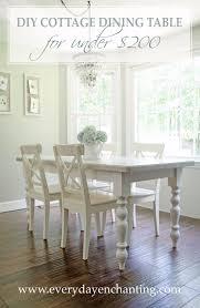 Diy White Dining Room Table 38 Diy Dining Room Tables Diy