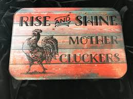 Cooking Board by Cutting Board Glass Rise And Shine Mother Cluckers Rooster