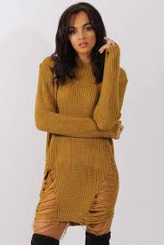 distressed jumper dress kim