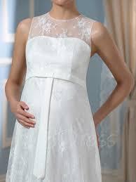 lace empire waist a line floor length maternity wedding dress