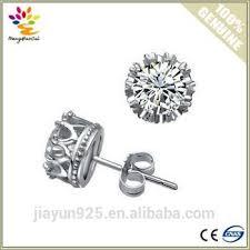 diamond earrings design design single diamond earrings jewelry cz 925 sterling