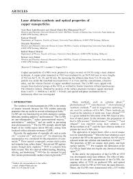 Sho Metal Yang Asli laser ablation synthesis and optical pdf available