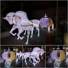 Outdoor Led Lighted Christmas Decorations outdoor christmas decorations led lighted horse carriage buy led