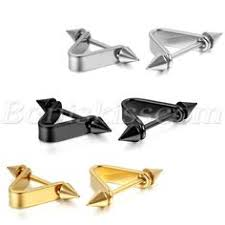 cool ear studs 2colors stainless steel cruciform taper mens ear studs