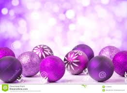purple christmas scene with baubles stock photo image 57765497