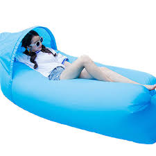Inflatable Sofa Upgraded Version Outdoor Lazy Sofa Ship Shaped Inflatable Couch