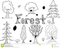 coloring pages breathtaking drawing forest trees sketch style