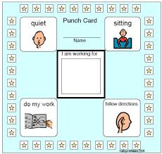 Bathroom Pass Punch Card Behavior Punch Card With Rule Reminders Quiet Do My Work Follow