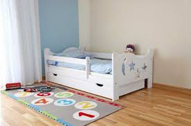 Toddler Bed Frame With Storage Toddler Bed With Storage Ira Design