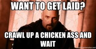 Stfu Meme - want to get laid crawl up a chicken ass and wait kane meme stfu