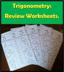 trigonometry ratios soh cah toa trigonometry worksheets and math