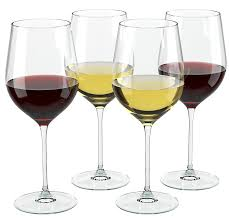 amazon com wine science set of 4 crystal wine glasses with 4