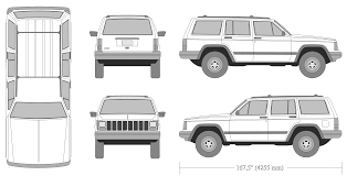 cherokee jeep xj jeep cherokee xj 1999 blueprint download free blueprint for 3d
