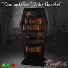 coffin bookshelf second marketplace dead and coffin bookshelf