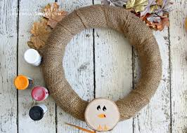 diy thanksgiving decorations simple turkey wreath somewhat simple
