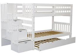 Bunk Beds Pics Bunk Beds Stairway White Trundle 689 Bunk Bed King