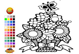 flower garden coloring pages eson me