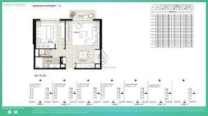 Podium Floor Plan by Golf Views By Emaar 3 Bedroom Apartment Podium Unit Floor Plan