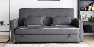 One Seater Sofa Bed Buy Neno Single Seater Sofa Cum Bed In Black U0026 Red Colour By