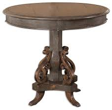 Wood Round End Table Anya Round Pedestal Table Traditional Side Tables And End
