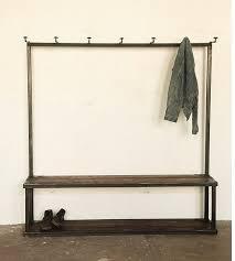 cool coat rack storage coat rack bench at strawser smith in brooklyn remodelista