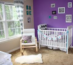 Turquoise Nursery Decor Inspired By Amethyst 10 Purple Hued Nurseries For Babies Baby