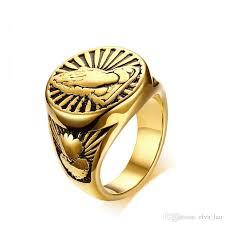 wholesale gold rings images 2018 wholesale mens gold rings stainless steel devout namaste jpg