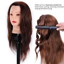 shaping long hair amazon com hairealm 24 mannequin head 100 human hair