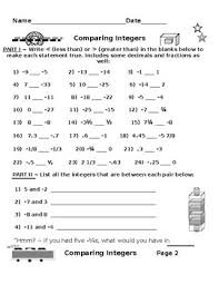 for thinkers plus comparing integers using less than greater than