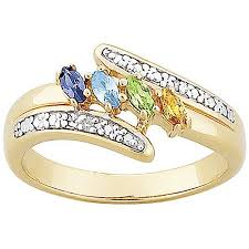 mothers birthstone rings personalized sterling silver or 18k gold silver marquise