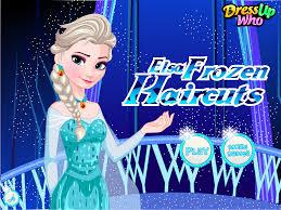 new game elsa frozen haircuts dress up games pinterest