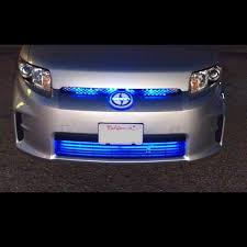 blue led grill lighting kit neon glow strips front of car truck