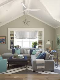 Beach Style Living Room Design Ideas Grey Sectional - Color schemes for family room