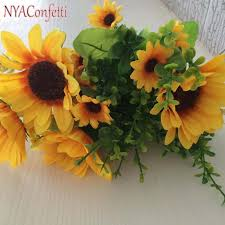 silk sunflowers artificial potted flowers set silk sunflowers eucalyptus in