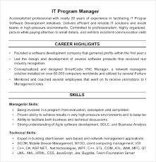 Program Manager Resume Pdf It Program Manager Resume Pdf Free Samples Examples U0026 Format