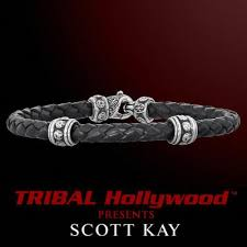 woven bracelet with cross images Scott kay leather bracelets for men tribal hollywood jpg