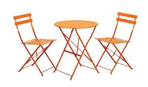 Tesco Bistro Chairs Buy Royalcraft Padstow Burnt Orange Folding Steel Garden Bistro