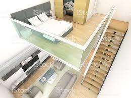 minimalist duplex two storey house interior design stock photo