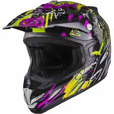 motocross helmets for kids shox mx 1 nightmare kids black purple green motocross helmet