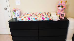 Diaper Changing Table by Diaper Changing Table Organization 2017 Baby Vlog Youtube