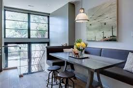 Cozy Height Of Banquette Seating Built In Banquette Dining Sets Smart Built In Banquette Seating